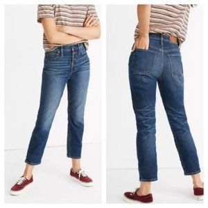 Madewell Button Fly The Perfect Vintage Crop Jean